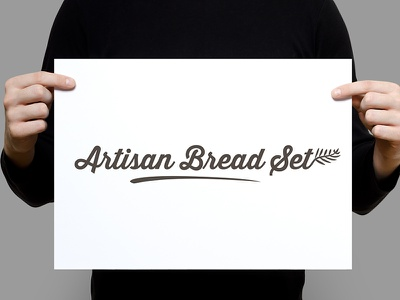 Artisan Bread Set - Logo 1 logotype logo artisan bread script