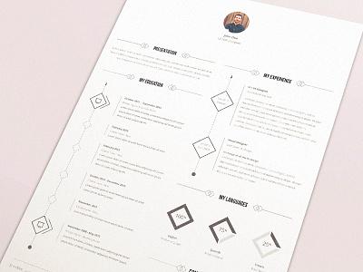 Resume template resume cv template