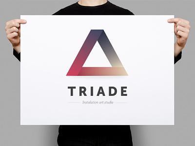 Triade logo template triade logo template minimal