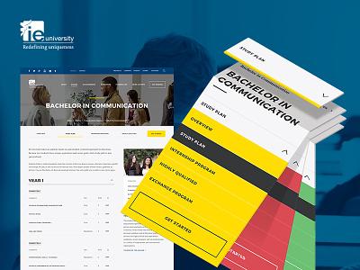 IE University Responsive Website ui ux university mobile color flat responsive web