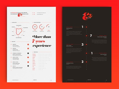 My new resume/cv infographic editorial typography color print download freebie free template cv resume