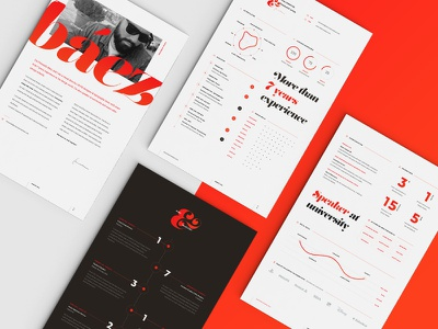 Full Resume Design editorial typography color print download freebie free template cv resume