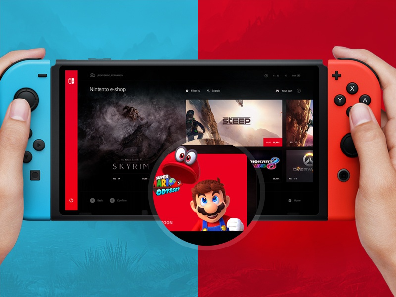Nintendo Switch Interface user experience user interface mario color videogame switch nintendo dashboard interface ux ui