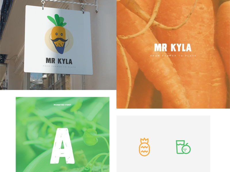 Mr Kyla: Logo proposal brand design type color brand branding logo design icon symbol mark logotype logo