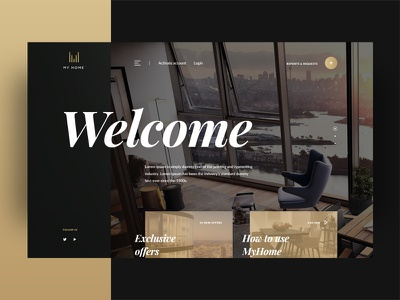 Landing for apartment company in Sidney visual design web design typography color dashboard responsive interface ui ux home home page landing