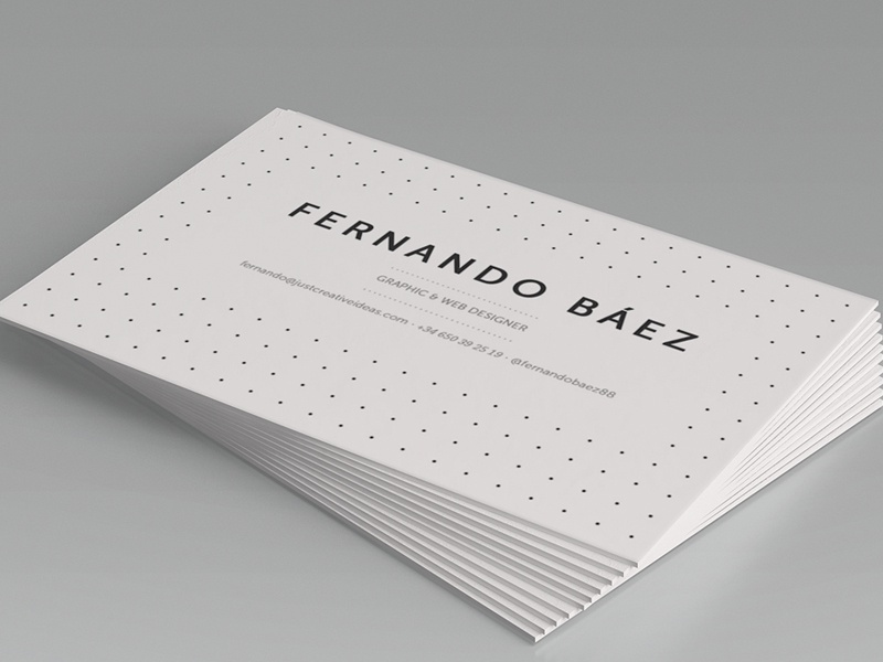 personal business card design by fernando báez dribbble