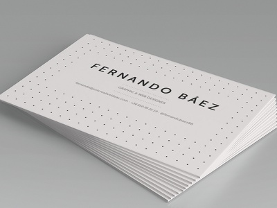 Personal business card design. card print stationery