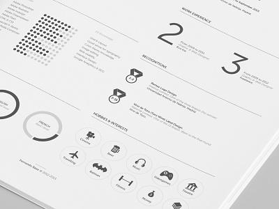FREEBIE Resume redesign - Closer view. cv resume freebie free