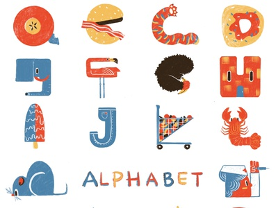 Alphabet design-1 texture joyful colorful procreate design illustration digital alphabet