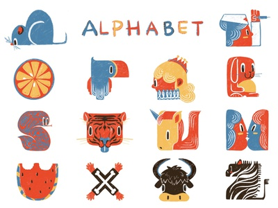 alphabet-2 colorpalette procreate designs simpel alphabet logo character design illustrator illustration digital