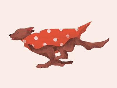 Red Dog animal character design vector illustrator illustration digital