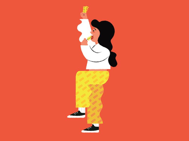 skewer lover character vector illustrator illustration digital