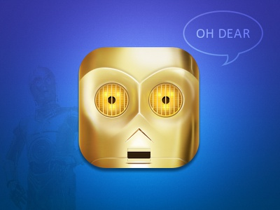 C3PO c3po starwars metal robot icon illustration ios movie yellow