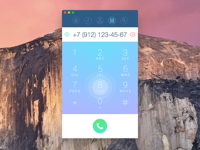 Dialer App UI concept wip call phone application mac osx icon sketchapp dialer app