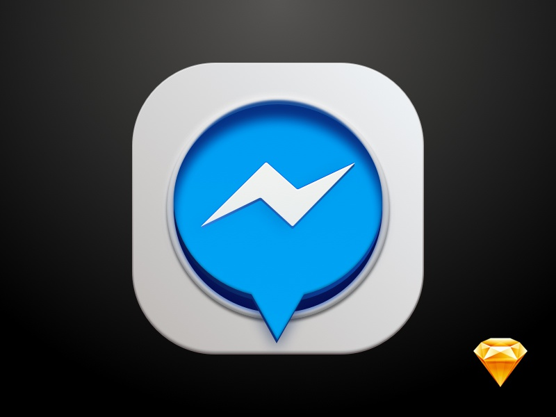 Messenger Icon - Sketch file included sketchapp rebound icon lightning messenger