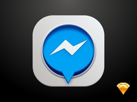 Messenger Icon - Sketch file included