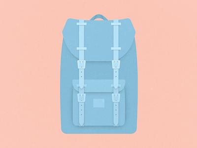 Herschel Little America bag herschel vector illustration flat