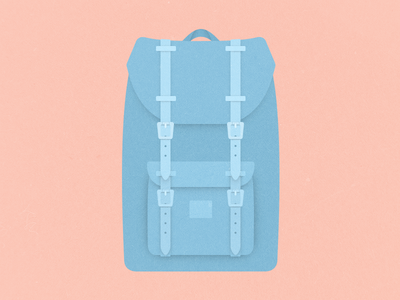 Herschel Little America bag herschel vector illustration flat