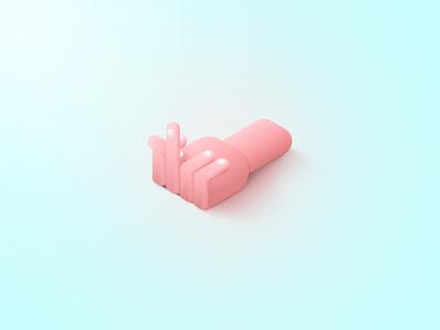 Rebound - Fingah palm hand finger pink help shadows gradient rebound
