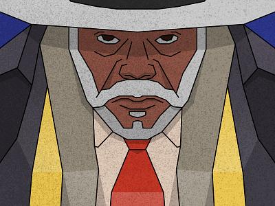 The Hateful Eight - Major Marquis Warren samuel l jackson vector portrait movie hat illustration flat character