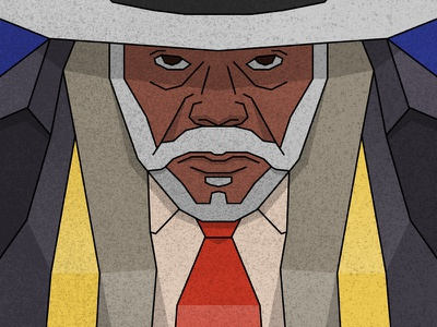 The Hateful Eight - Major Marquis Warren samuel l jackson vector portrait movie hat illustration flat character