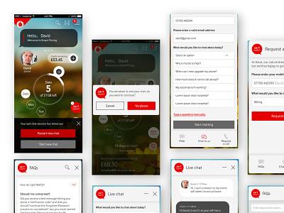 Vodafone APP design ui