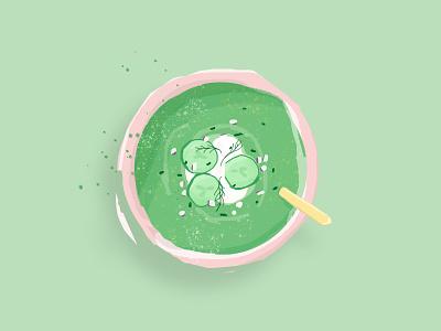 Soup Series: Green Gazpacho poster design design connected illustraion ipad sign poster green gazpacho