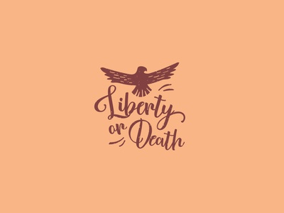 Liberty or Death vintage mascot logo social house connected liberty