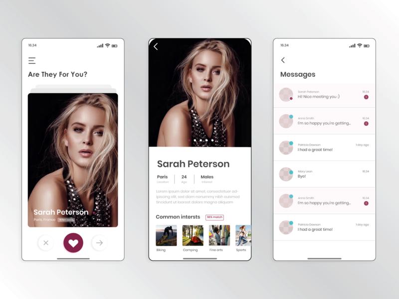 Dating App datingapp user interface minimal daily ui