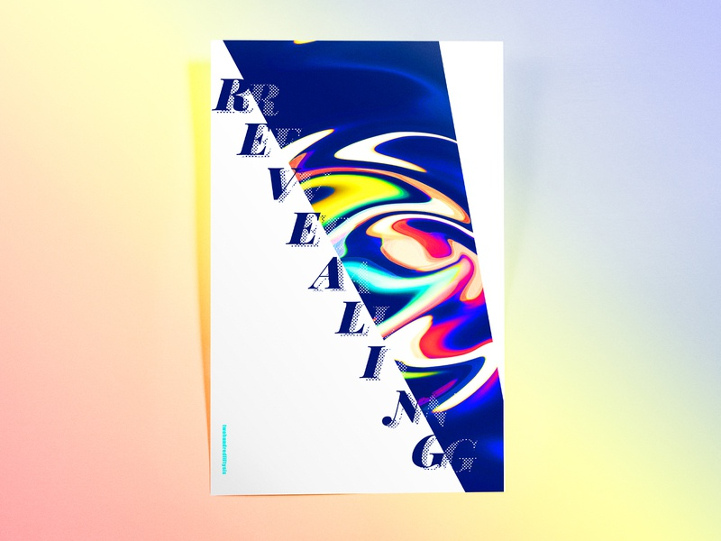 Poster TwoHundredFiftySix: revealing abstract illustrator cc poster challenge poster design