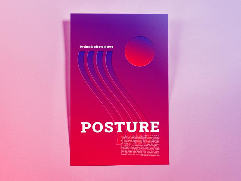 Poster TwoHundredSeventyTwo: posture minimal illustrator cc poster challenge poster design