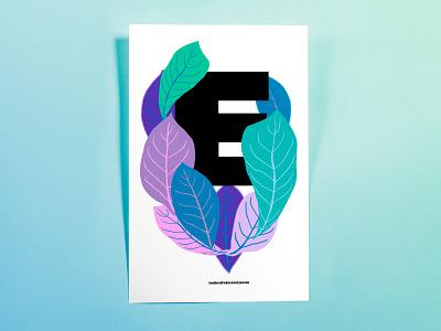 Poster TwoHundredSeventySeven: E minimal hand drawn illustrator cc poster challenge poster design