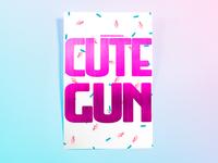 Poster OneHundredSeventeen: cute gun