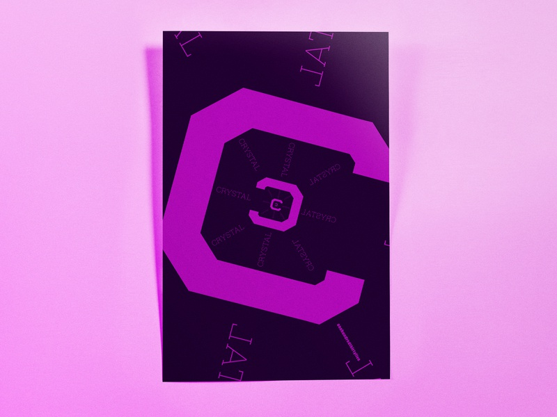 Poster OneHundredThirtyFive: crystal minimal typography poster challenge poster design