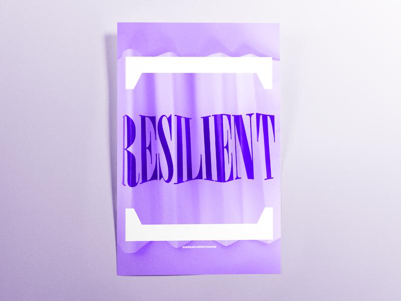 Poster OneHundredThirtySeven: resilient handmade poster challenge poster design