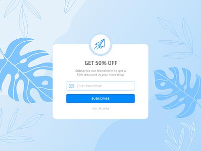 Newsletter design web ui ux