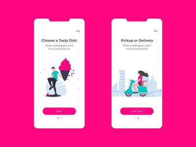Onboarding Screen   Food Delivery App branding minimal app design ui ux