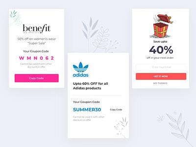 Coupons minimal ui ux app web design