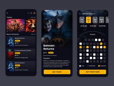 Cinema Booking App Design icon branding app ux design ui
