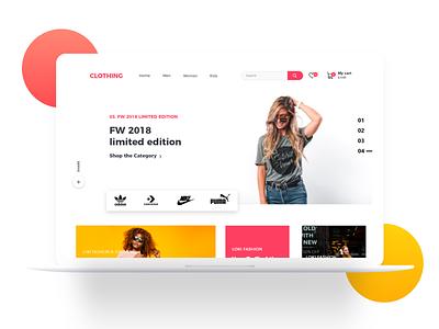 Ecommerce Website Landing Screen vector ui ux app animation illustration logo branding web design