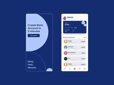 Online Bank App UI animation app ux design ui