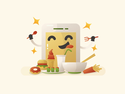 animated mascot illustration for online food order app character mascot online food order food app online order animatedgif animated illustration