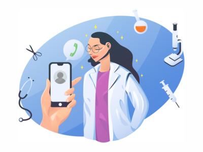 online doctor illustration doctor app online medic medical doctor illustration