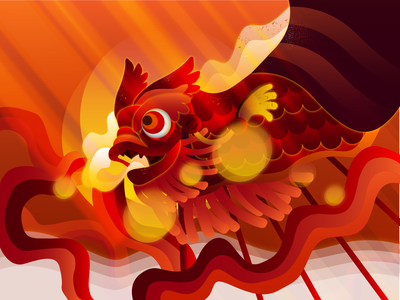 Chinese New Year - Illustration vector artwork vector art vector illustrations vector illustration design new arrival red lunar new year dragon new year chinese new year ui illustration