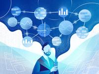 Mobile Data Analysis Apps Illustration