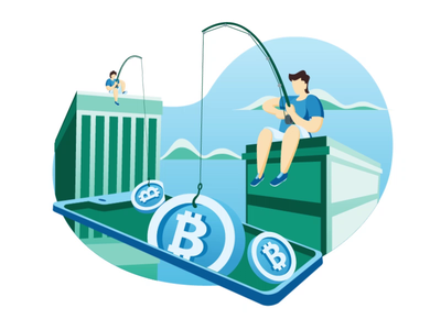 bitcoin animated illustration bitcoin wallet mining fishing cryptocurrency animated bitcoin illustration