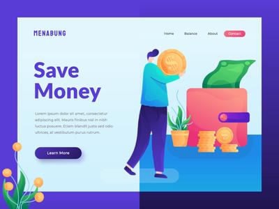 Animated hero image for fintech startup animated hero image animation hero image financial save money startup fintech app fintech