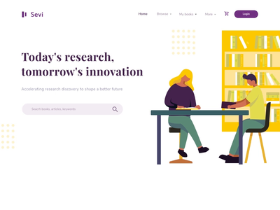 animated landing page for digital book library animated hero ui ux gif landing page animation homepage landingpage motion graphic animated hero image