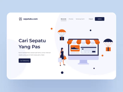 animated e-commerce landing page ecommerce landing page gif animated animated hero motion graphic animation header hero image
