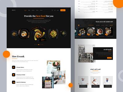 Restaurant homepage design food restaurant homepage header landing page hero image